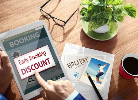 on occasion: Summer Occasion Online Booking Digital Tablet Concept