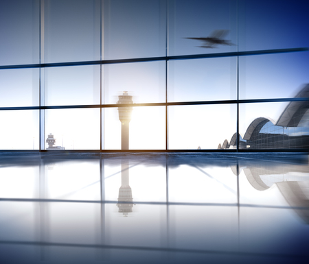 Airport Terminal Aerospace Industry Flight Airplane Concept