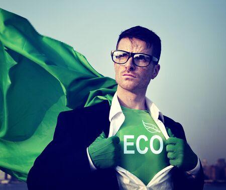 empowerment: Eco Strong Superhero Success Professional Empowerment Stock Concept