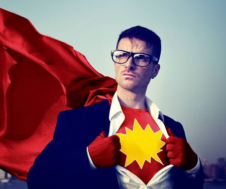 empowerment: Kaboom Strong Superhero Success Professional Empowerment Stock Concept