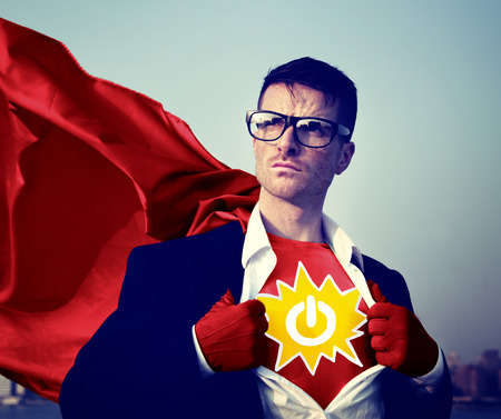 empowerment: Power Strong Superhero Success Professional Empowerment Stock Concept