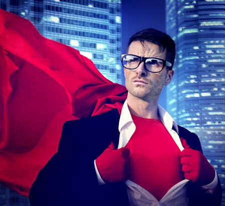 liderazgo: Fuerte Superhero Liderazgo Profesional de Empresas de la Victoria Concepto Foto de archivo
