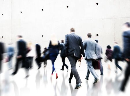 commuter: Commuter Rush Hour Travel Waking Business Concept Stock Photo