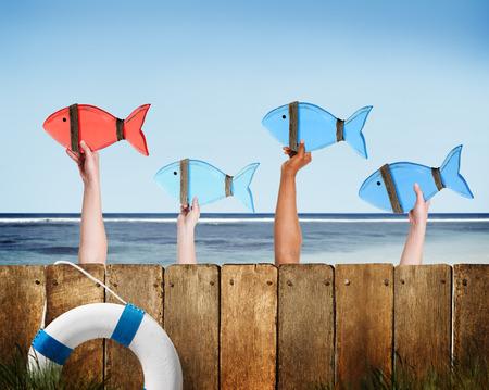 model fish: Leadership Leader Partnership Collaboration Community Concept