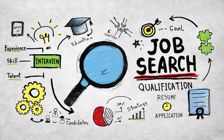 qualification: Job Search Qualification Searching Application Concept