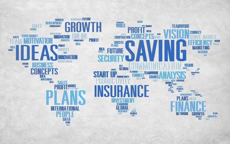 other world: Saving Finance Global Finance World Economy Concept