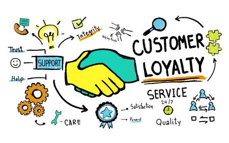 kunden: Customer Loyalty Service Support Care Trust Werkzeuge Konzept