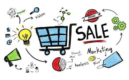 판매 판매 판매 금융 수익 돈 소득 지불 개념