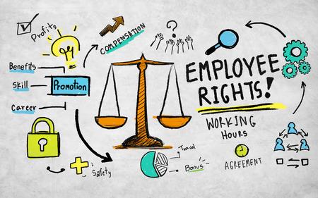 Derechos de los empleados igualdad en el empleo empleo Reglas Ley Concepto Foto de archivo - 39450583