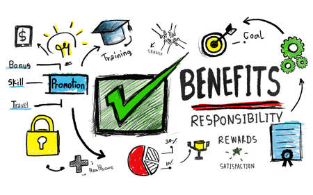 gain: Benefits Gain Profit Earning Income Insurance Satisfaction Concept
