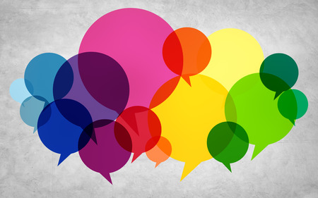 Speech Bubbles Colorful Communication Thoughts Talking Concept