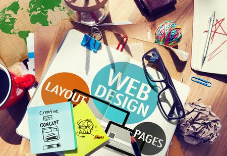 Web Design Creative Content Website Concetto Responsive Archivio Fotografico - 39450735