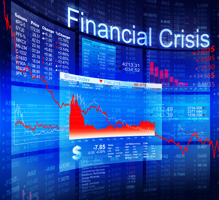 banking crisis: Financial Crisis Economic Stock Market Banking Concept Stock Photo