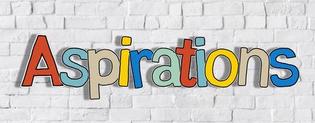 aspirational: The Word Aspiration on a Brick Wall