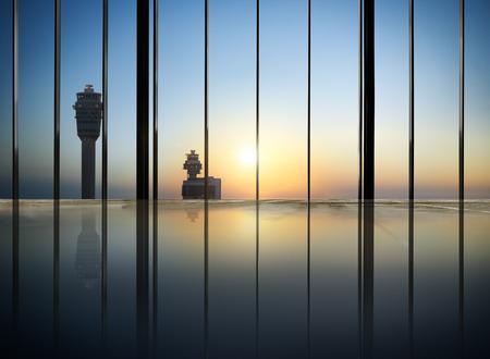 contemporary: Cityscape Buildings Contemporary Airport Concept