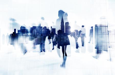 cityscape: Commuter Business People Cityscape Corporate Travel Concept
