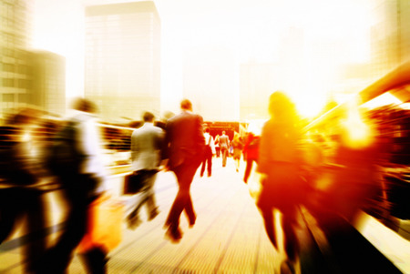 Business People Corporate Walking Commuting City Concept Stok Fotoğraf