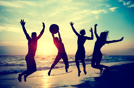 summer holiday: People Celebration Beach Party Summer Holiday Vacation Concept