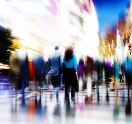 other keywords: Business People Rush Hour Walking Commuting City Concept