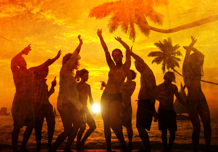grupo personas: Celebraci�n Beach Party Summer Holiday Vacation Concept