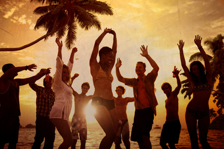 beach man: People Celebration Beach Party Summer Holiday Vacation Concept