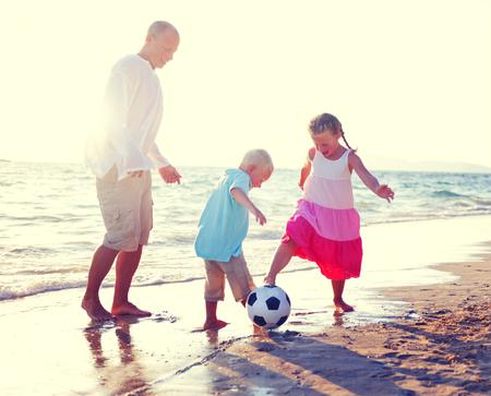 pere et fille: P�re, Fille de Son Beach Fun Summer Concept