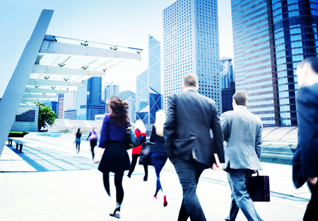 Business People Walking Commuter Travel Motion City Concept Reklamní fotografie