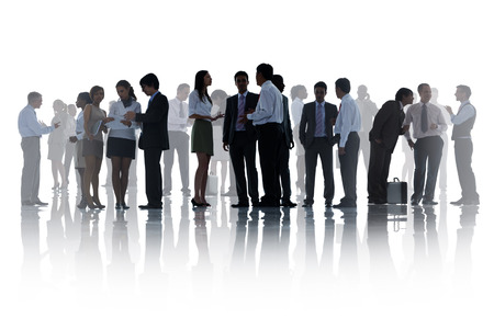 menschenmenge: Silhouettes of Corporate Gesch�ftsleute Arbeiten