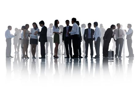 personas platicando: Siluetas de Negocio corporativo Personas de Trabajo