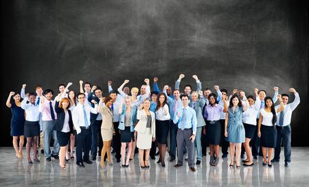 La felicidad de negocios Cooperación Alegre Team Concept Foto de archivo - 40852259