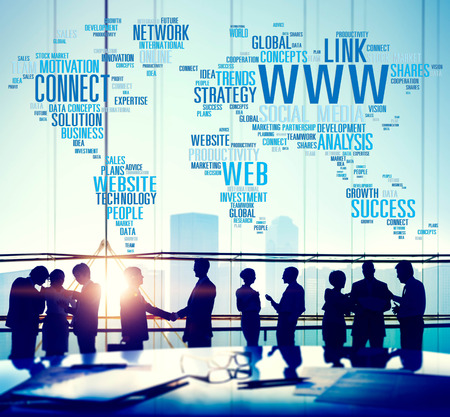 WWW Social Media Internet Connection Global Networking Concept photo