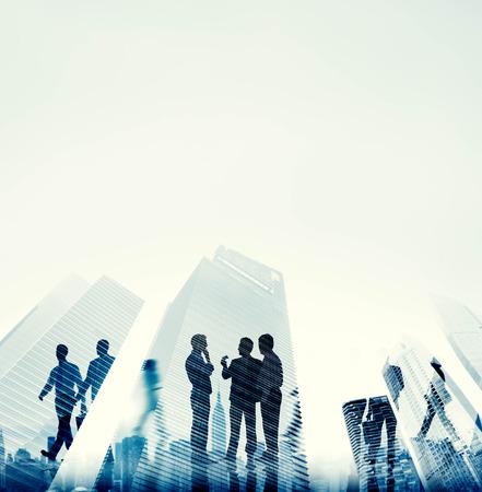 бизнес: Корпоративный бизнес Люди Управление Buliding Концепция
