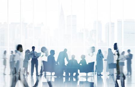 коммуникация: Бизнес Люди Связь корпоративной команды Концепция