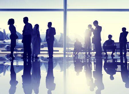 gente aeropuerto: Grupo de personas Aeropuerto de Viajes de Negocios de la comunicación Concepto