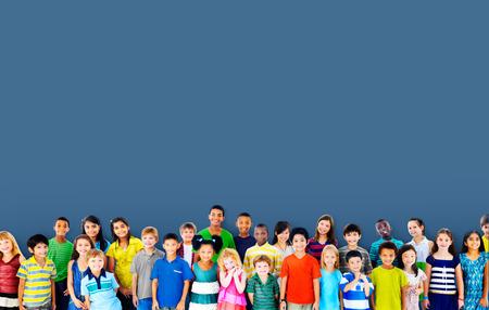 Children Kids Childhood Friendship Happiness Diversity Concept Archivio Fotografico
