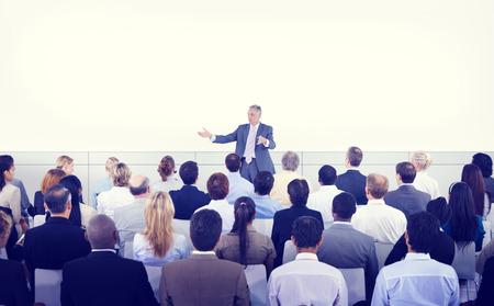 seminar room: Diversity Business People Seminar Presentation Team Concept Stock Photo