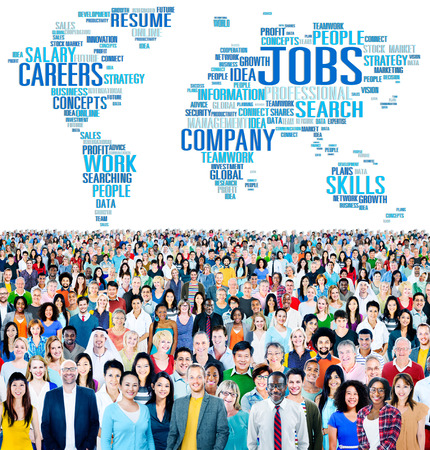 career success: Jobs Occupation Careers Recruitment Employment Concept