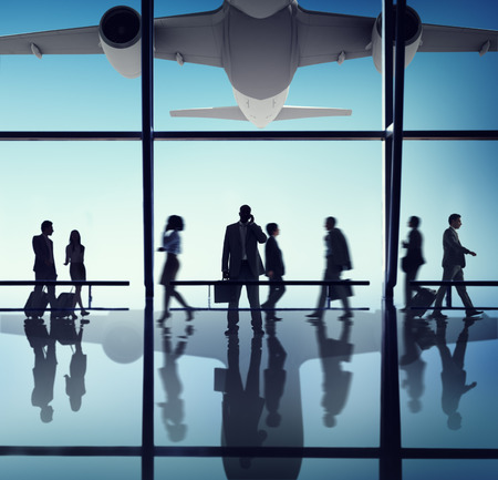 business travel: Airplane Aircraft Airport Business Travel Flight Transport Concept