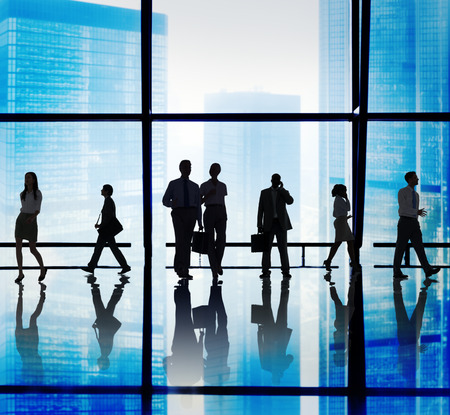back in an hour: Business People Corporate Walking Office Concept Stock Photo