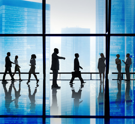 businessman waiting call: Business People Corporate Office Concept