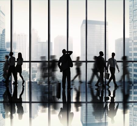 business people standing: Business People Corporate Office Concept