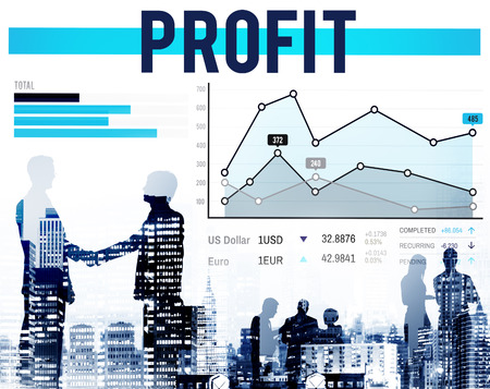 proceeds: Profit Finance Gain Return Proceeds Percentage Concept Stock Photo