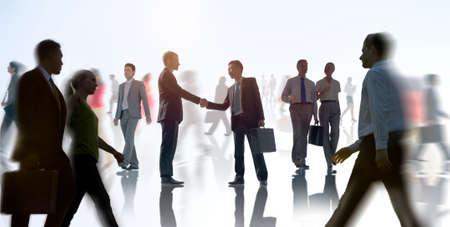 white collar: Business Handshake Agreement Deal White Collar Worker Concept