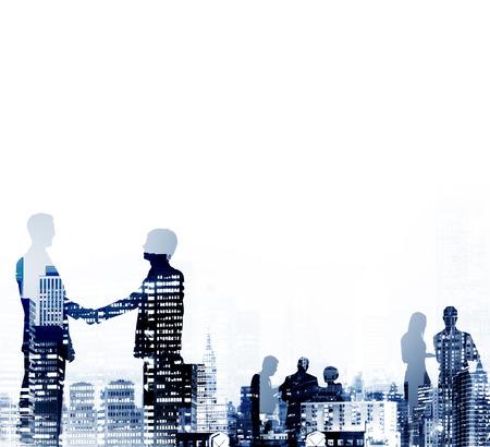 personas saludandose: Businessmen Handshake Partnership Agreement Concept Foto de archivo