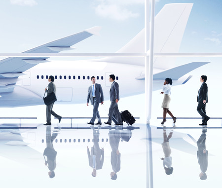 flight mode: Business People Walking in  the Airport