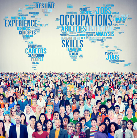 united people: Occupations Careers Community Experience Global Concept Stock Photo