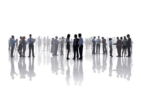 corporate meeting: Business People Corporate White Collar Worker Communication Concept