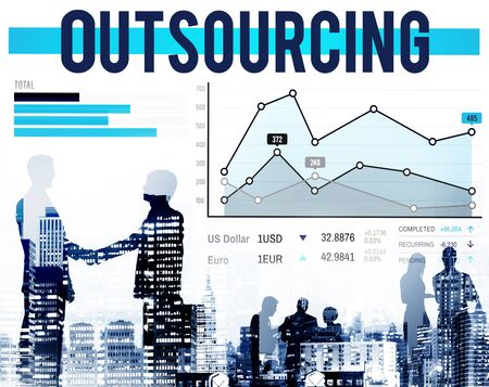 Outsourcing Hiring Outsource Recruitment Skills Concept photo