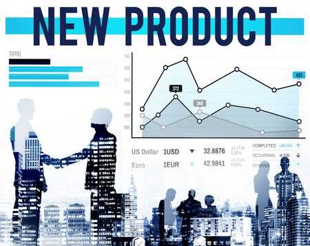 stock market launch: New Product Branding Marketing Promotion Concept