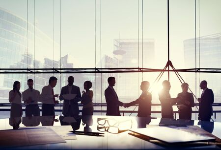 business handshake: Business People Connection Interaction Handshake Agreement Greeting Concept